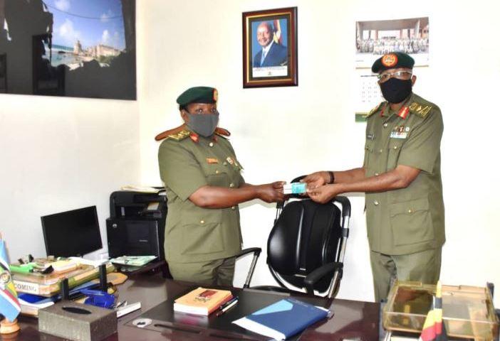 Brig. Gen. KaremireHands Over Office To New UPDF Spokesperson Brig. Gen. Byekwaso