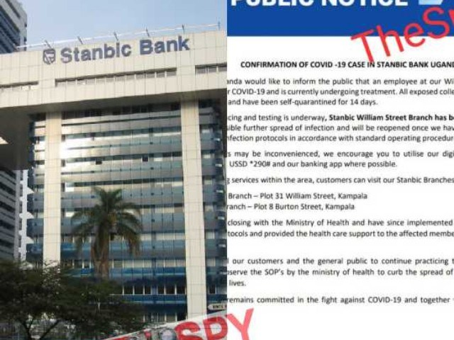 Just In:Stanbic Bank Closes Branch In Kampala Over COVID-19