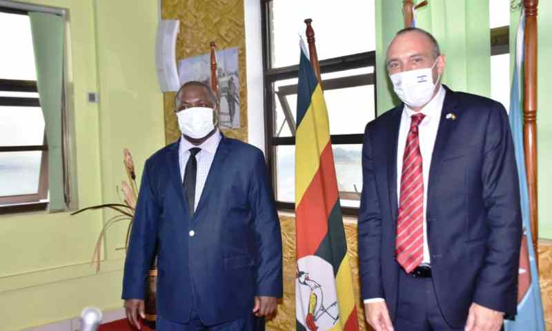 Defence Minister Adolf Mwesige Meets Israel Ambassador Obed, Agree To Strengthen Uganda's Peace & Stability Through Cooperation