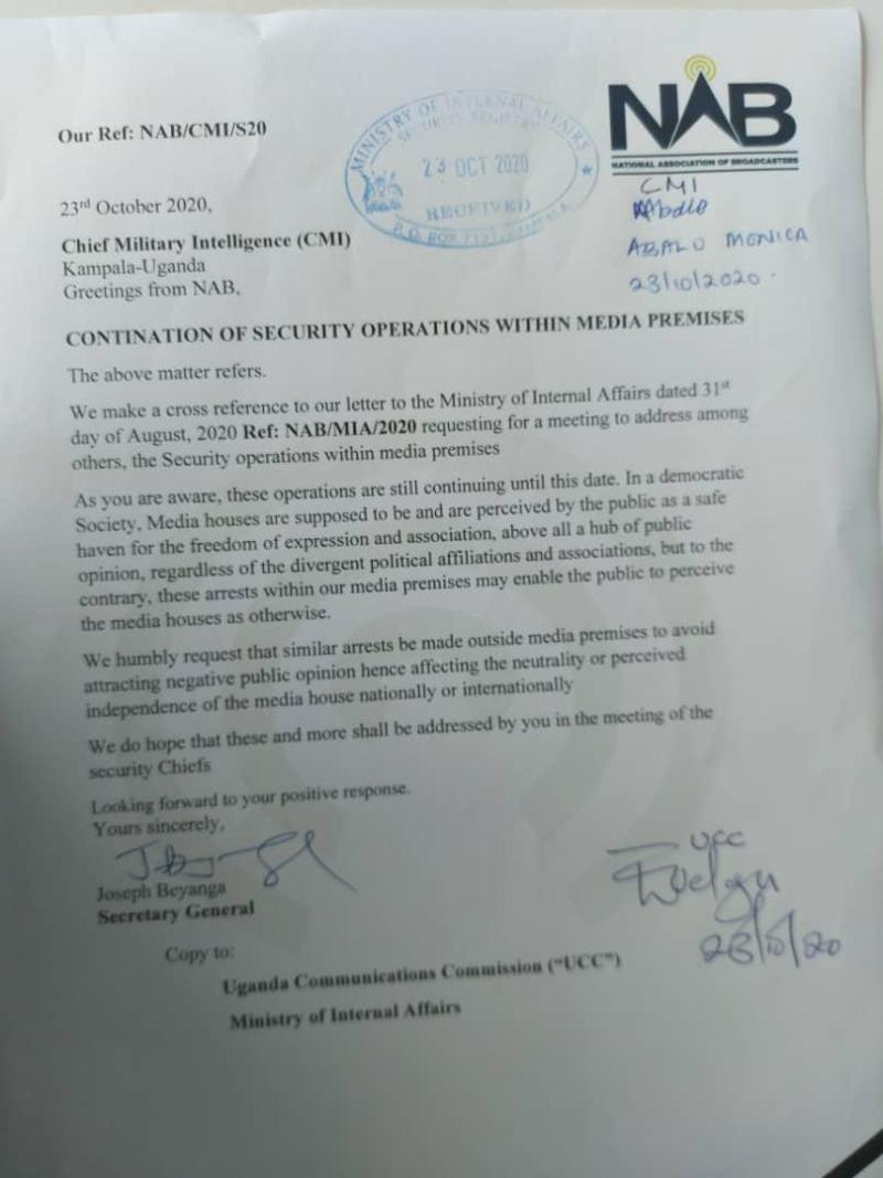NAB Protest Security Raid On Media Houses