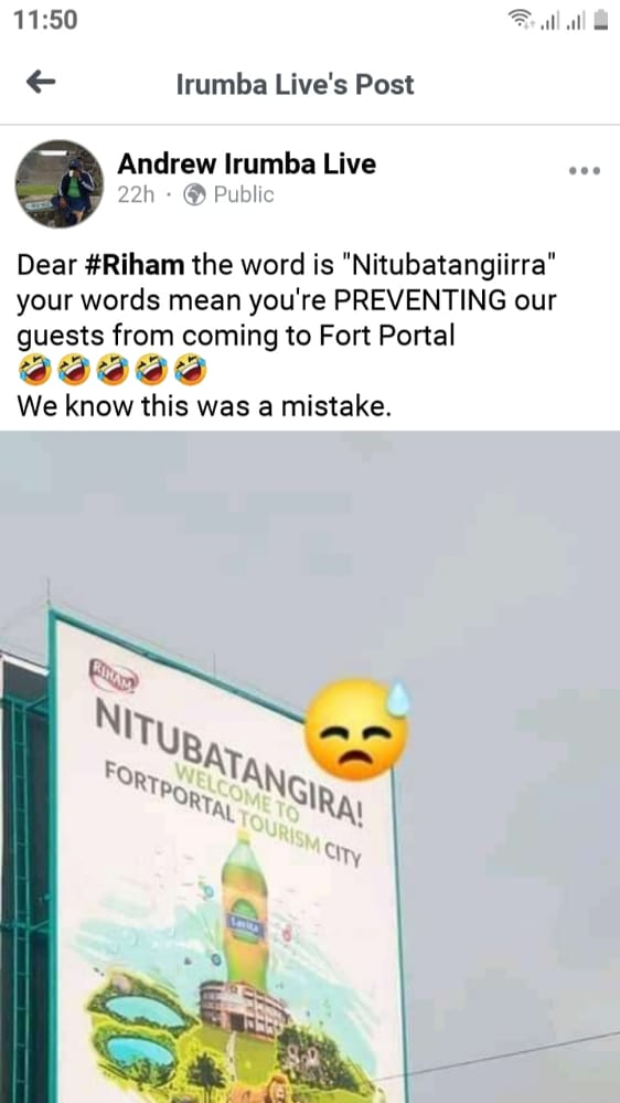 Riham Apologises To Tooro Kingdom Over Inappropriate Billboard In Fort portal
