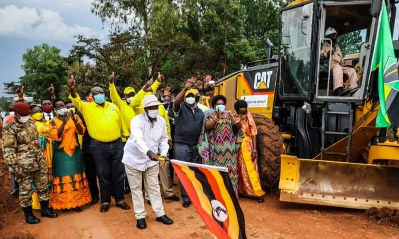 Museveni Launches Road Construction In Apac