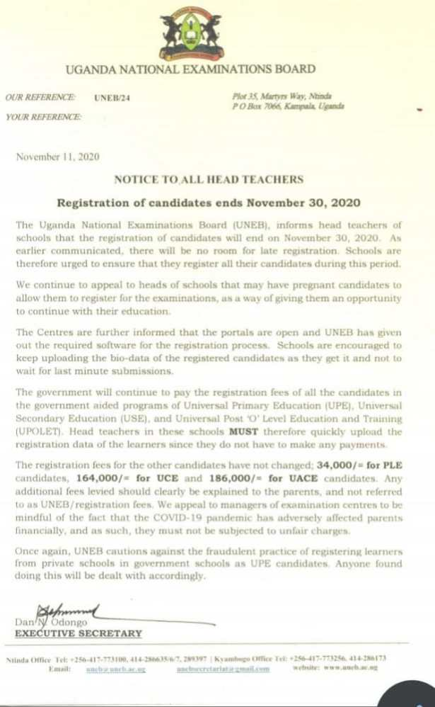 No More Extortion! UNEB Bans Late Registration Fees