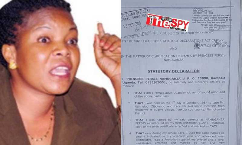 In Hot Soup! Was Minister Persis Namuganza Nominated On Forged Papers?