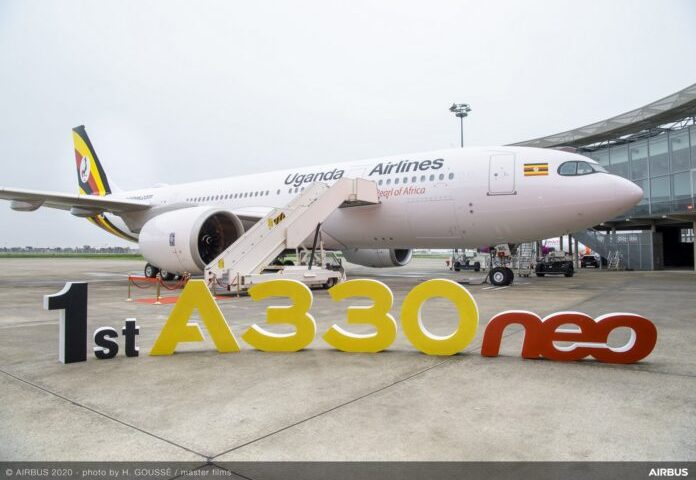 Uganda's New Airbus A330neo Routes Designed, Check Out Where It Will Fly!