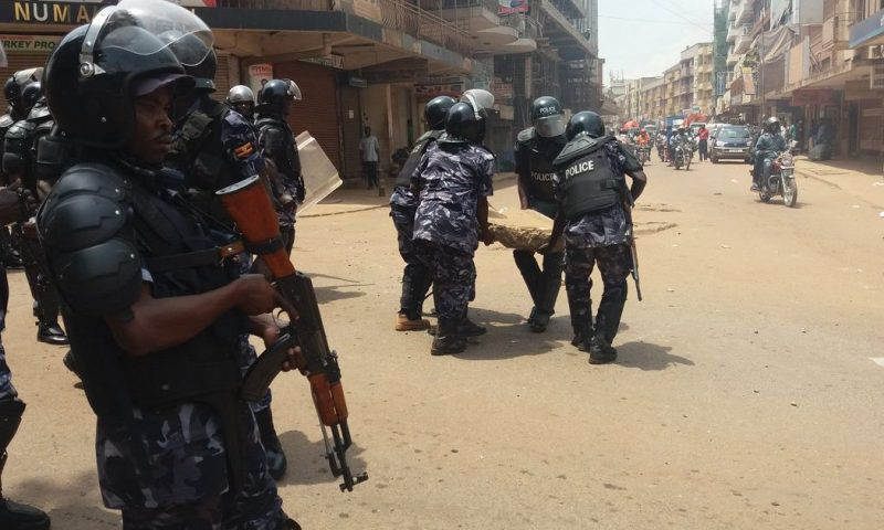 Just In: Heavy Deployment In Kiseka Market As Police Arrests Bobi Wine, Team In Kalangala