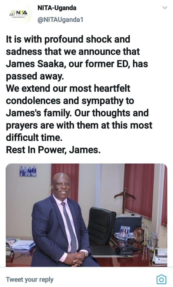 Former NITA Boss James Saka Succumbs To Covid -19