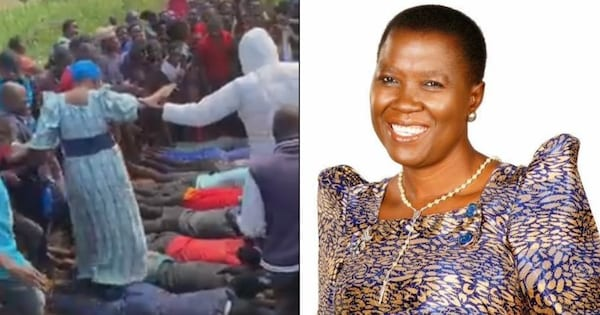 VIDEO: Salaamu Musumba On Spot For Turning Supporters Into Human Carpet As She Walks On Their Backs