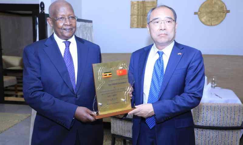 Minister Kutesa Hosts Farewell Luncheon In Honor Of Outgoing Chinese Ambassador HE.Zheng Zhuqiang