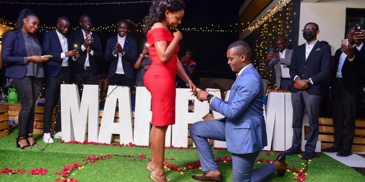 Done Deal, Let's Bonk Officially Canary Mugume Finally Proposes To Long Time Bonkmate Sasha Ferguson