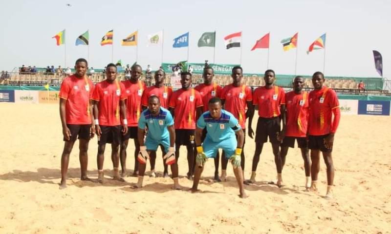 AFCON Beach Soccer 2021: Uganda Sand Cranes Edge Tanzania, Closer To Sealing Quarter Final Berth