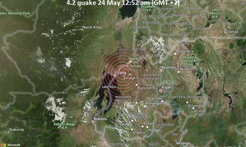 Mag. 4.2 Earthquake Puts Rwanda At Stand Still For 19 Minutes