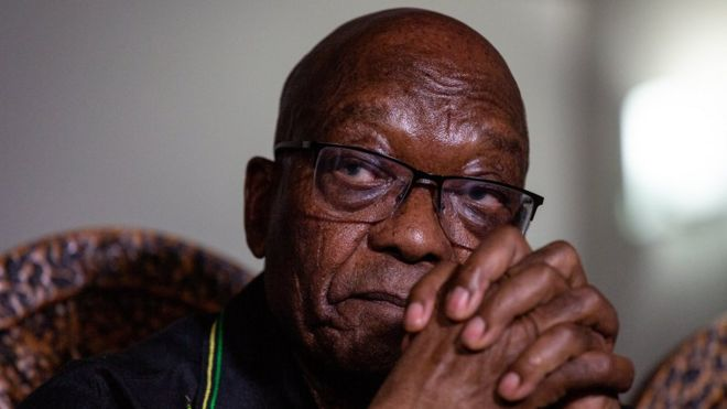 Dark Days For S.Africa's Ex-president Zuma As He Spends First Night Behind Coolers Over Corruption