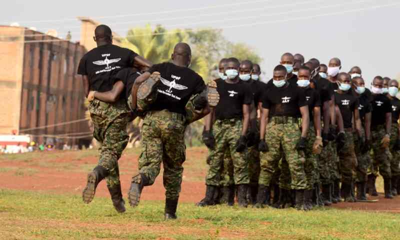 Museveni Passes Out 171 UPDF Counter Terrorism Officers After Several Months Of Training