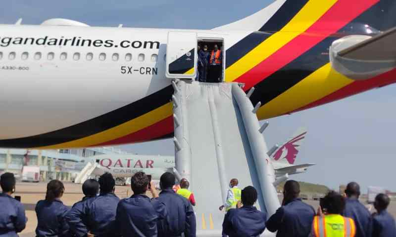 Highly Risky But Necessary; Uganda Airlines Grills Its Cabin Crew Staff Through Emergency Land Evacuation Skills