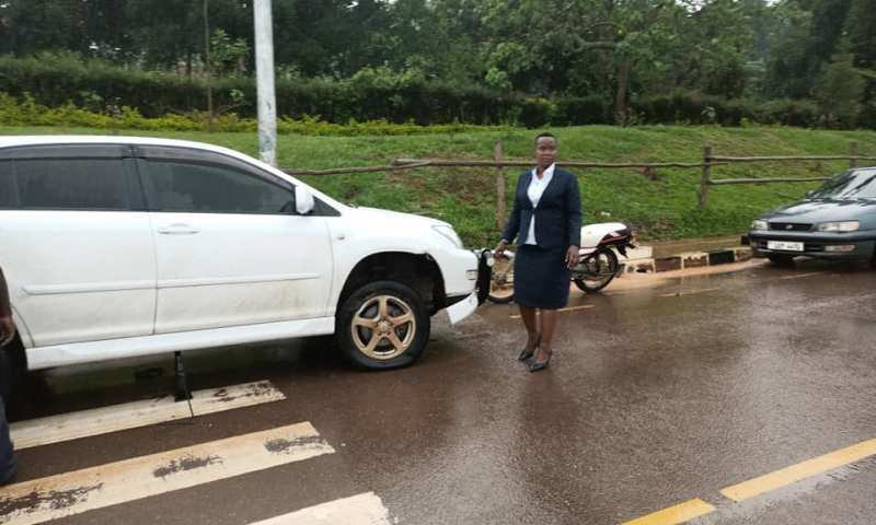 NUP Lawyer Malende Cheats Death BY Whisker Along Masaka Road After Being Attacked By 'Goons'