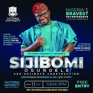 Warm Up For Biggest Lecturer: Victoria University Hosts Nigeria's Youngest Billionaire Sijibomi