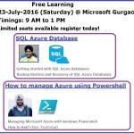 Learn Azure 23-July-2016   Gurgaon
