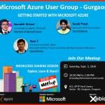 Azure User Group Meetup 3-Sep-2016 | Gurgaon