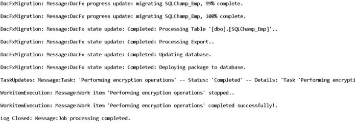 Always Encrypted - log Report