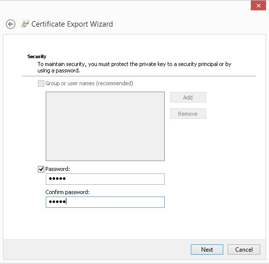 Import Export of Column Master Keys using Certmgr