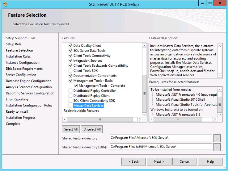 Features Selection - Cont'd