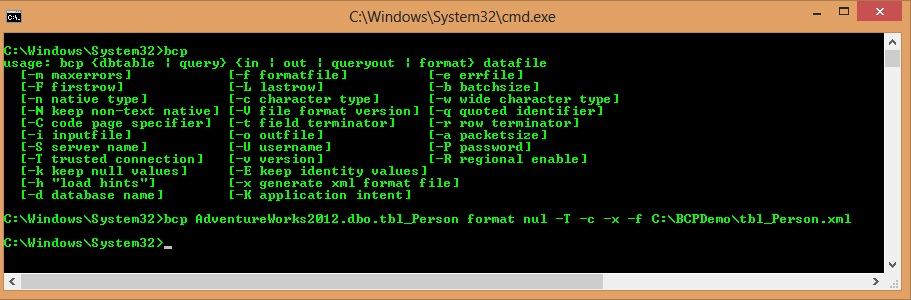 Create XML File Format