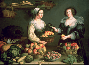 The Fruit and Vegetable Seller by Louise Moillon