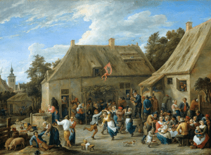 Country Kermis, by David Teniers, the Younger.  Fun performance, but not much cast vs convert in this image.