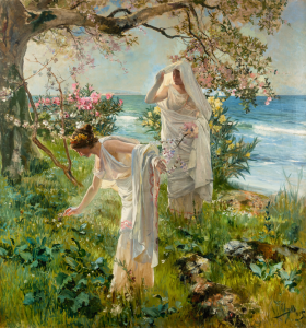 Greek Girls on the Shore, by Joaquin Sorolla, 1895