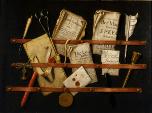 Trompe l'oeil, with Writing Materials - Colyer, Edwaert