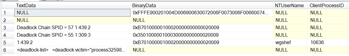 SSMS2014XE09-XE-Collected Trace Data