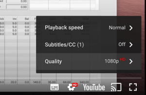 video quality reminder