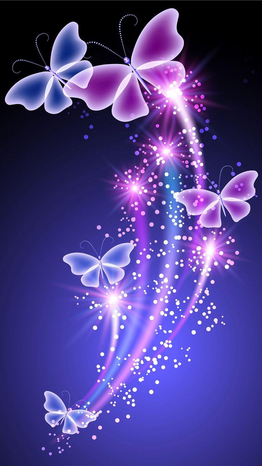 خلفيات فراشات وورود اجمل الفراشات الملونة