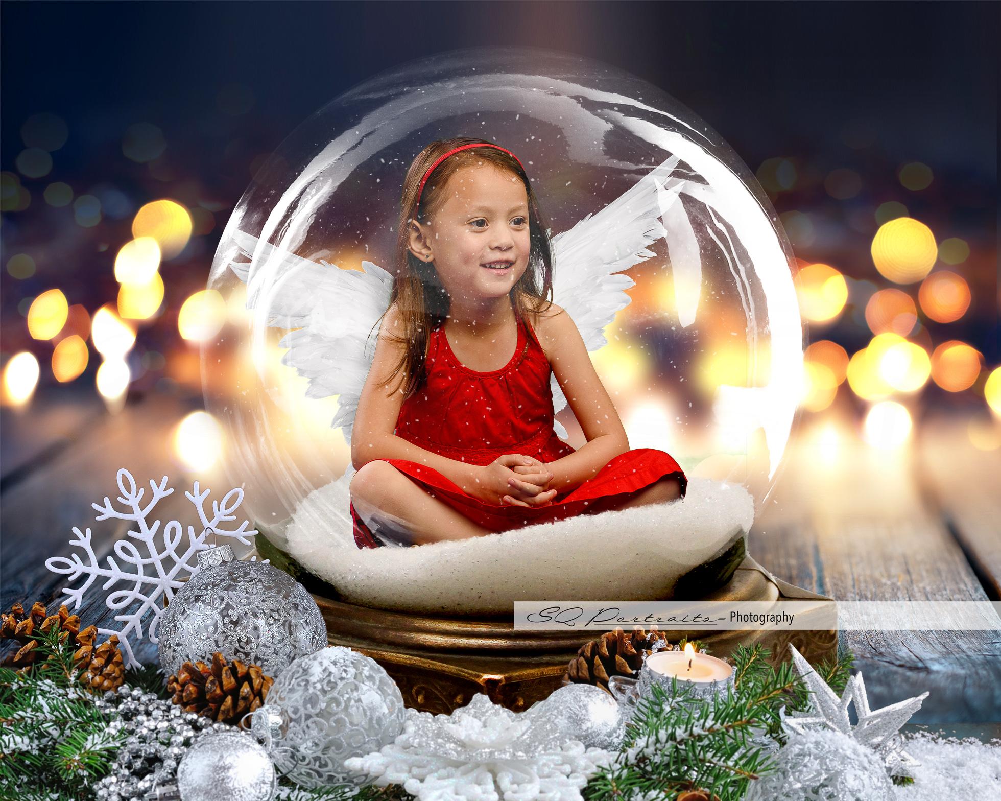 Twinkling Angel Snow Globe