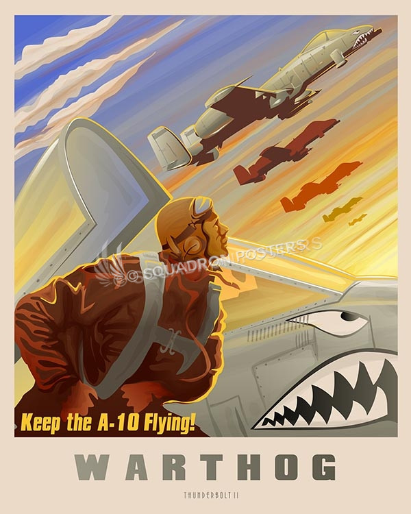 Keep The A 10 Flying Squadron Posters