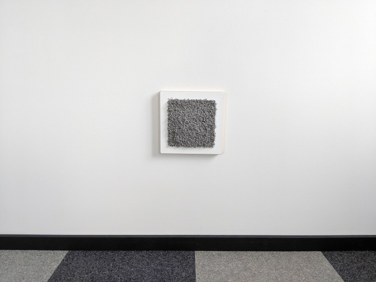 Modern wall cat scratcher in white SDF and fog