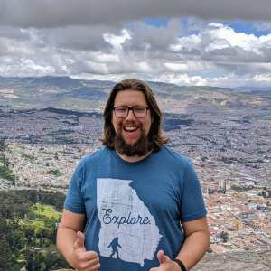 Happy Squatch in Bogata, Colombia.