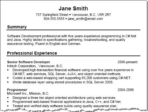 Good Examples Of Resume Titles. Resume Examples Resume Title