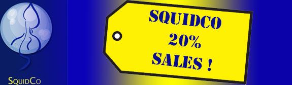 Squidco 20% Sale