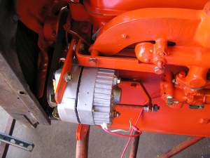 Squid's Fab Shop Allis Chalmers B Alternator Conversion