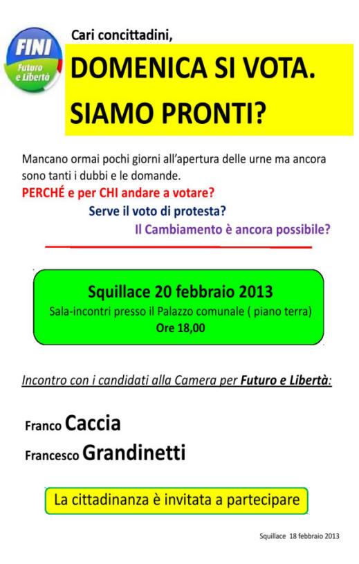 INCONTRO FUTURO E LIBERTA FEBB 2013
