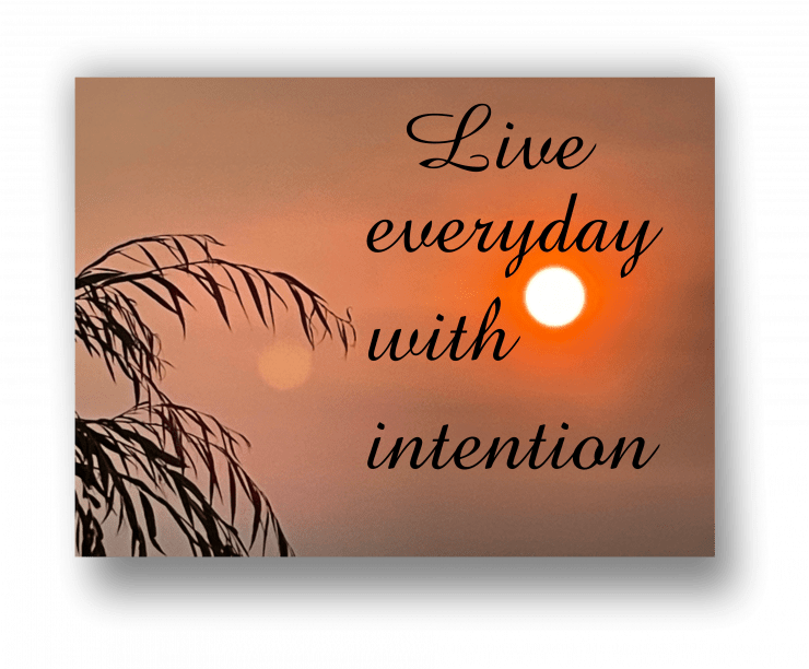 how to set intention and start journaling