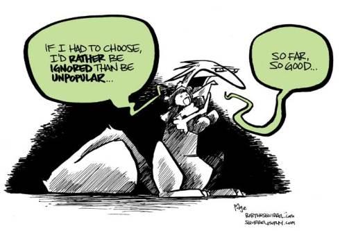 unpopular and ignored