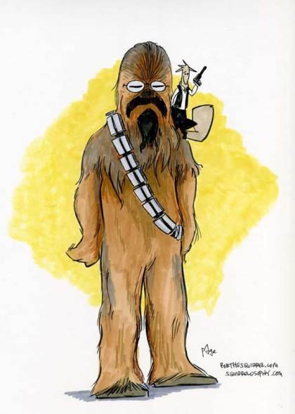 star wars... pagebacca and bob solo