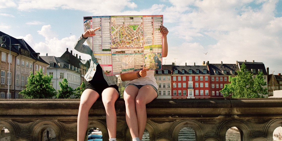 Traveling Girlfriends Looking For Directions