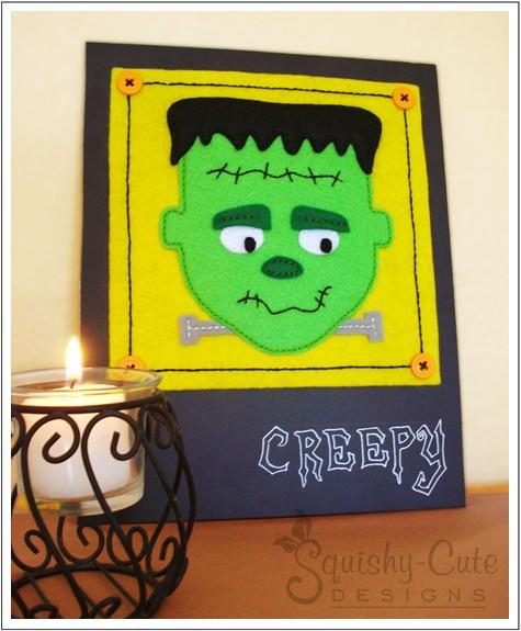 Quadro Frankenstein em feltro