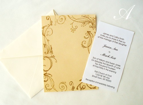 Homemade Wedding Invitation Examples Pictures