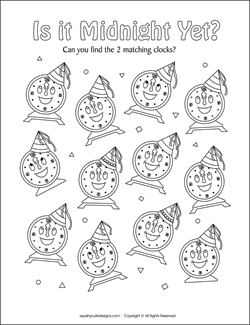 new year 39 s coloring pages amp puzzles squishy cute designs