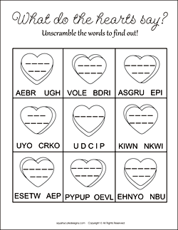 valentines day word scramble, valentine word scramble, word scramble for kids, valentine activities for kids, valentine party games, free printable activities for kids